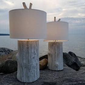 Stump lamps with limb finials