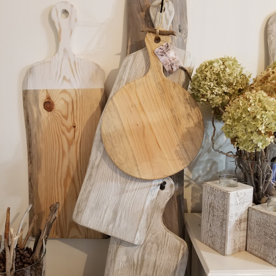 White and natural charcuterie boards