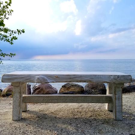 Beachy trestle bench/coffee table