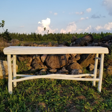 Crossed leg console table