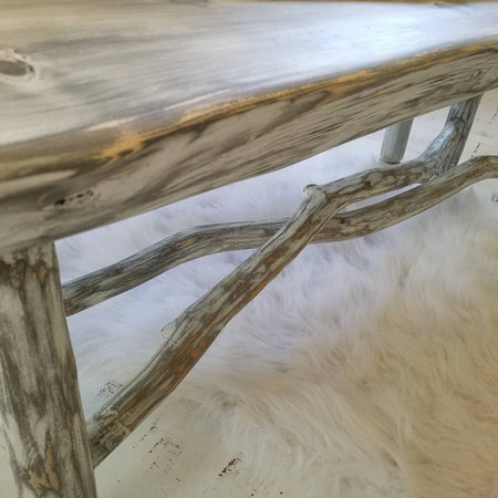 """""""Serene"""" Collection - live edge bench with limb base"""