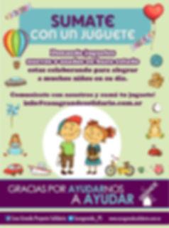 """Campaña Solidaria """"Jugate con un Juguete"""" - día del niño - donación juguetes"""