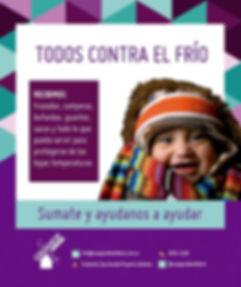 """Campaña soldaria """"Todos contra el Frío"""" - donación abrigos"""