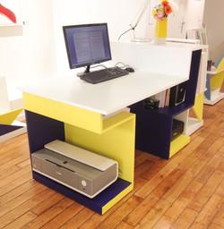 Bureau L135cm-Travail administratif