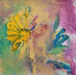 Fleurs Naif--20x20cm
