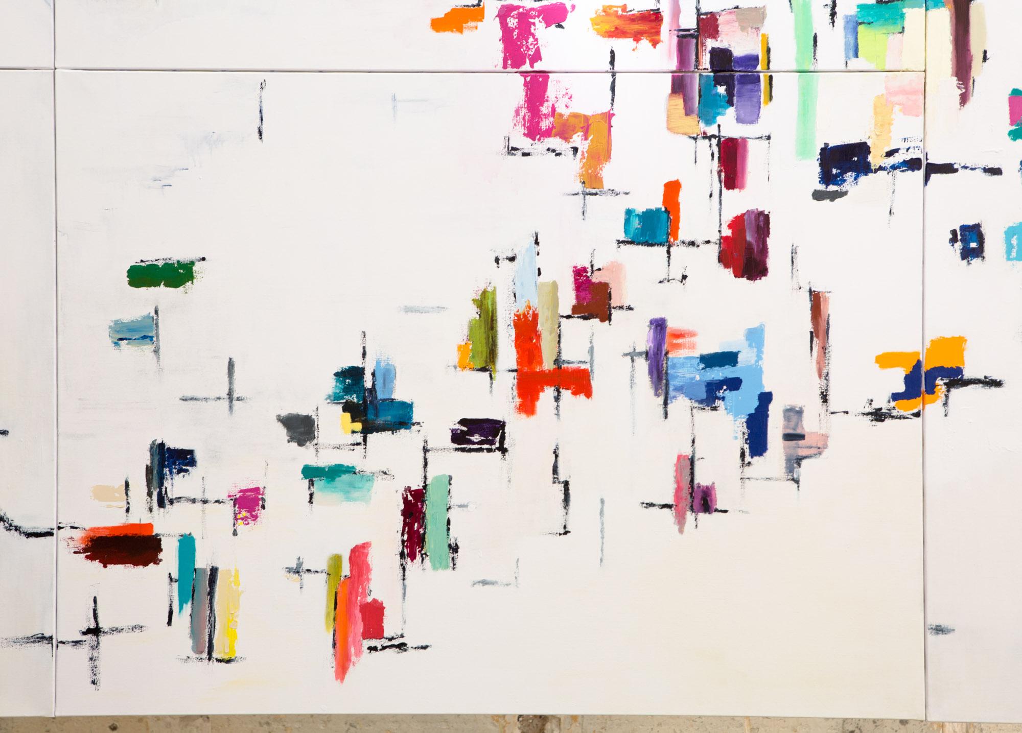 N°14 Quadrilles-97x130 cm