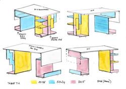 Dessins table