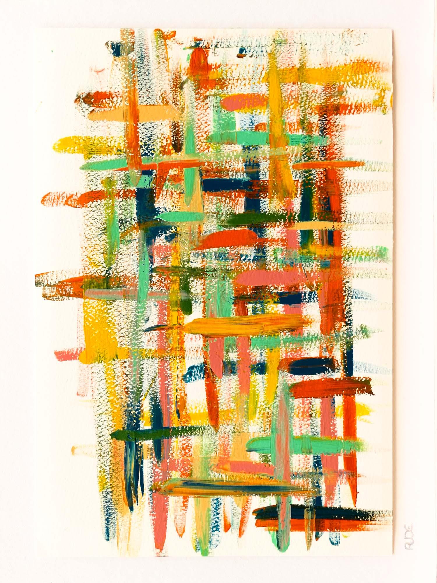Dense 36x24cm-Acrylique sur papier