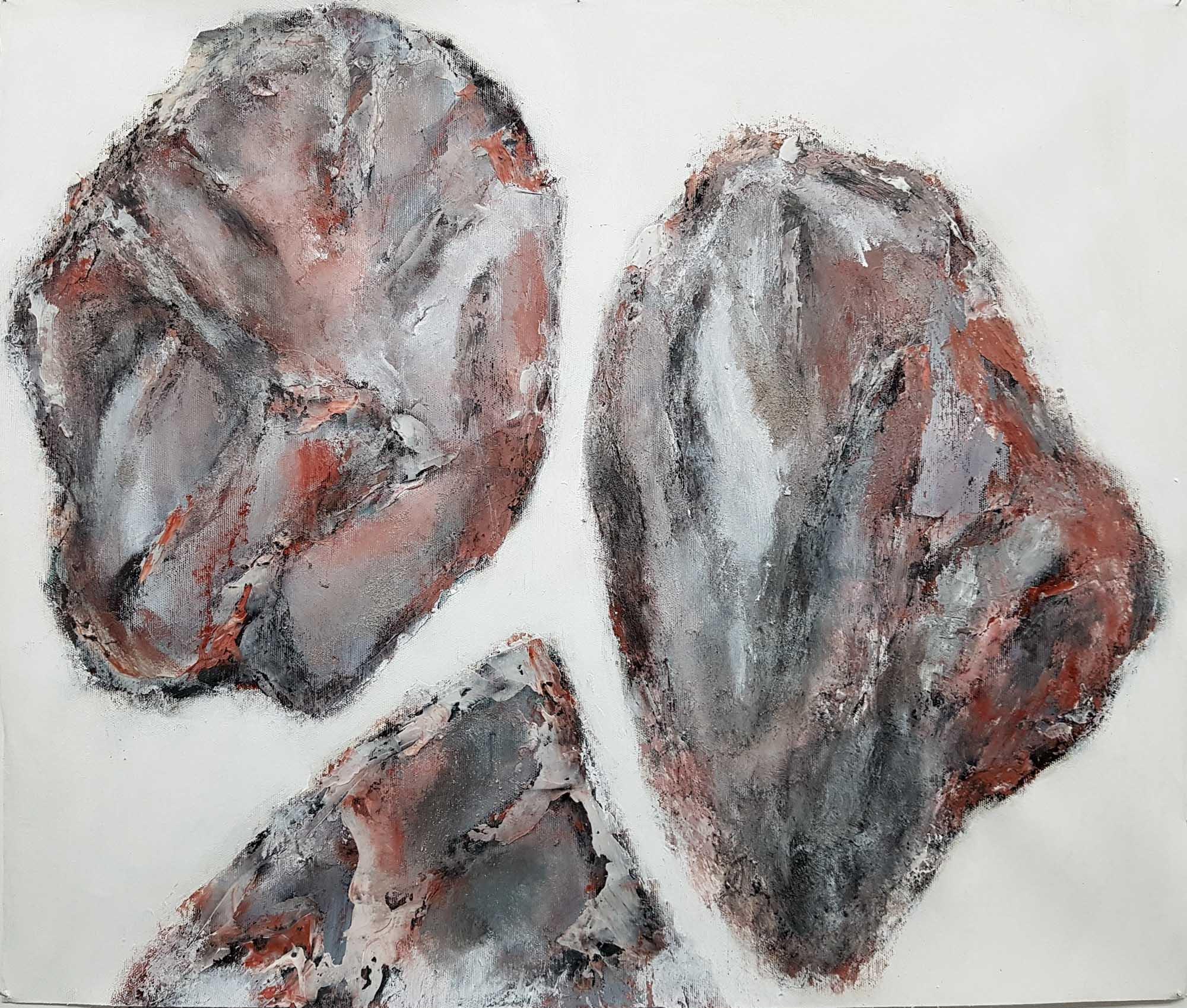Lignite-Empreinte -Minerais--59x72cm-Toile