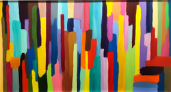 La Ville Dense - 76x145 cm