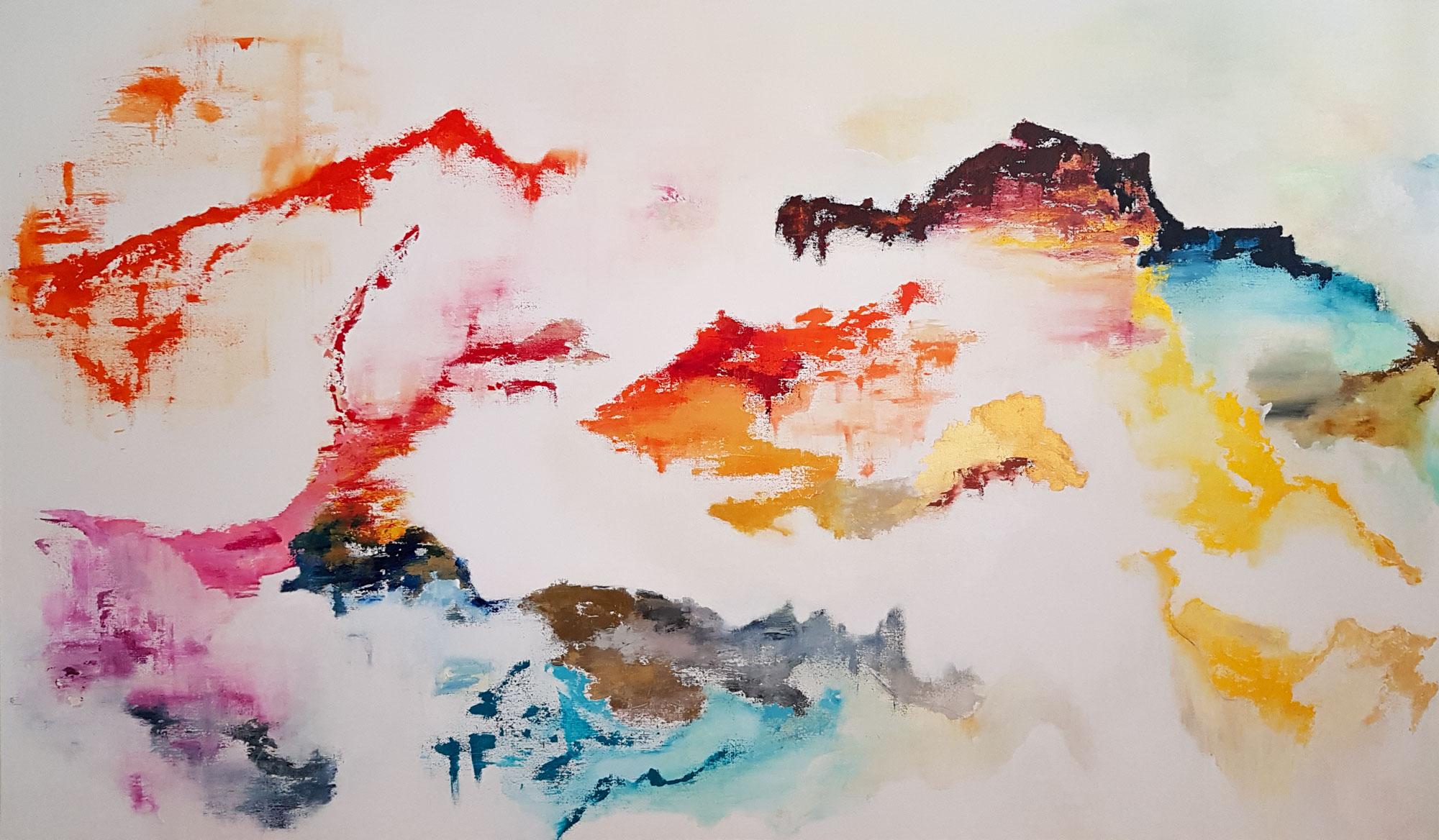 La Terre de feu-Diptyque-114*195cm