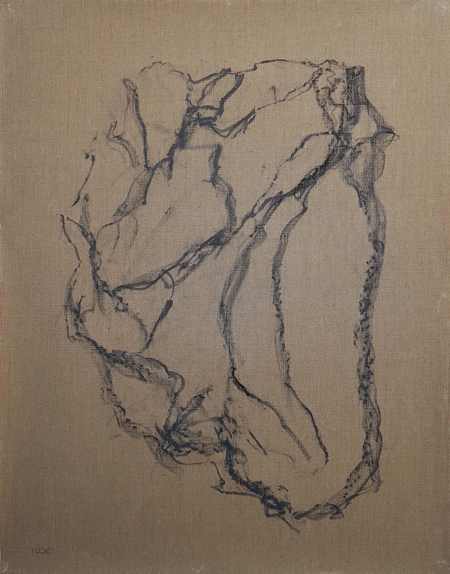 Coeur Battant-Empreinte Terre béante-100x80cm