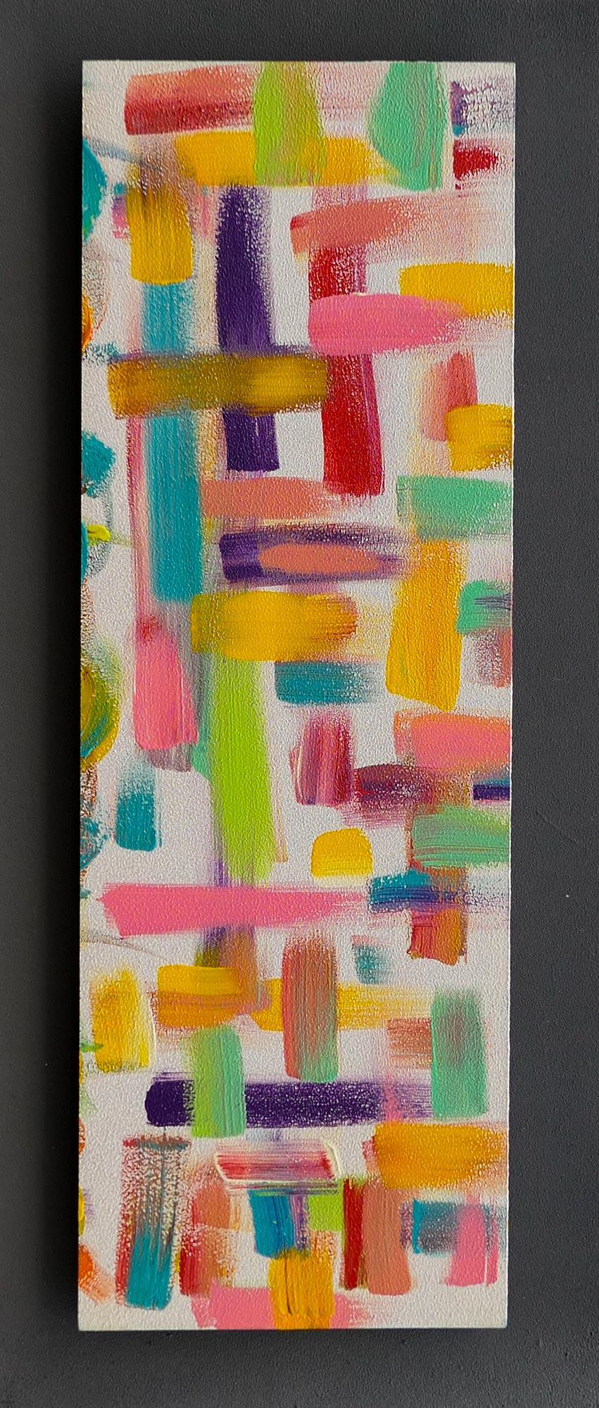 En croix 34x13cm-Acrylique sur bois