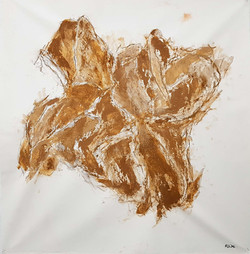 Dépliage-Empreinte Terre de sable-82x80cm