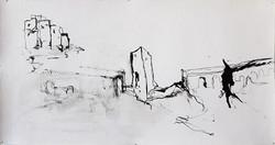La ville abandonnée-31x59cm-Papier