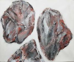 Lignite-Empreinte -Terre brulee-59x72cm