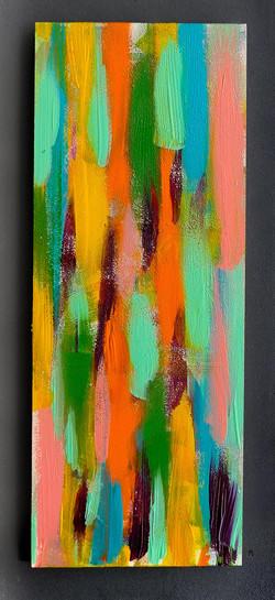 Par touches 34x13cm-Acrylique sur bois