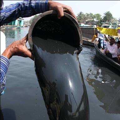 Polluted Balu River, Bangladesh