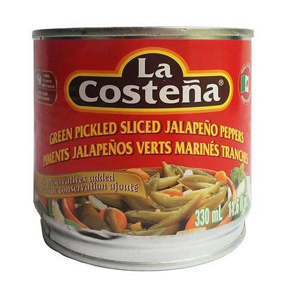 Green Pickled Sliced Jalapenos La Costena