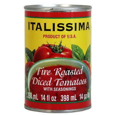 Fire Roasted Diced Tomatoes with seasoming Italissima
