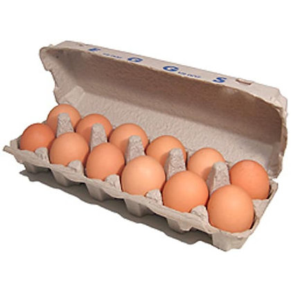 Large Brown Eggs - 12