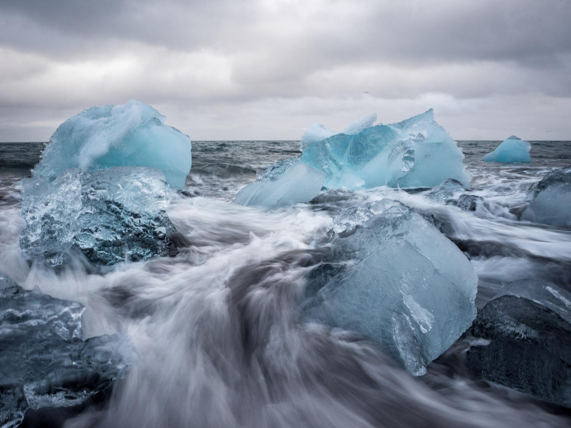 Diamantenstrand, Jökulsorlun, Island