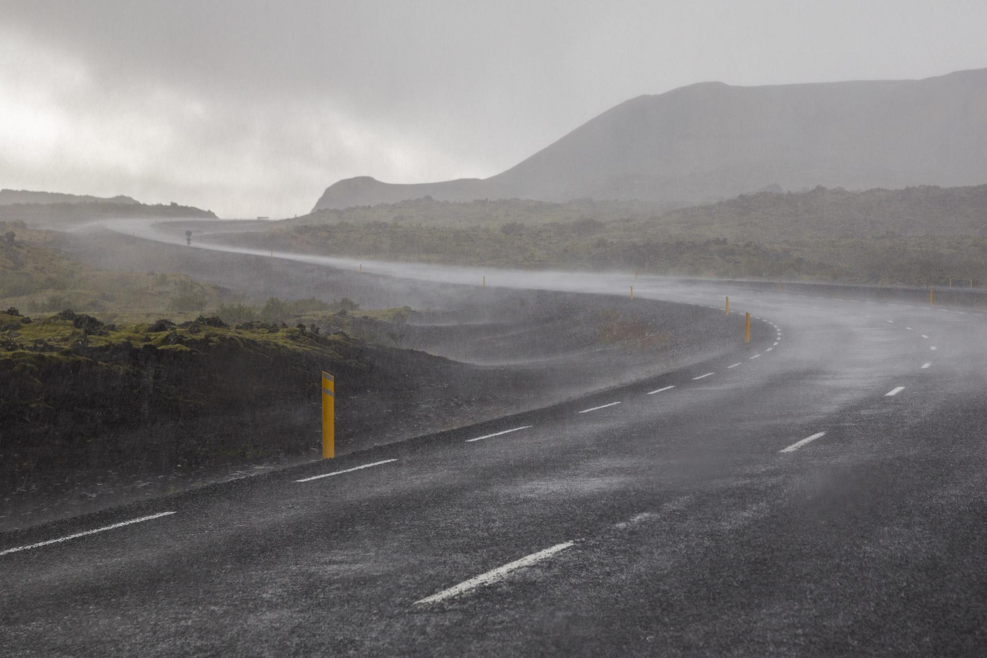 Wolkenbruch, Island