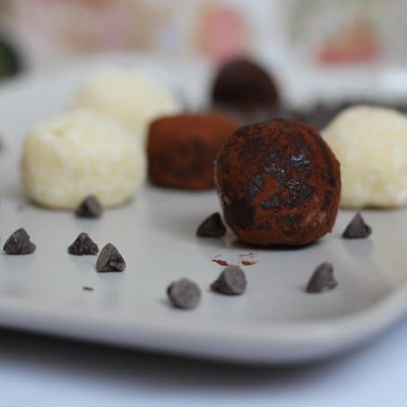 Black and white truffles