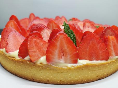 Tarte aux fraises et verveine