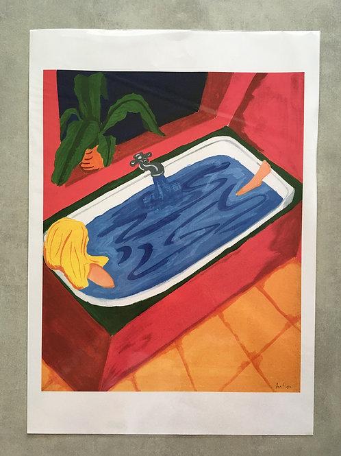 Verão em guache (na banheira)_ Ana Novi