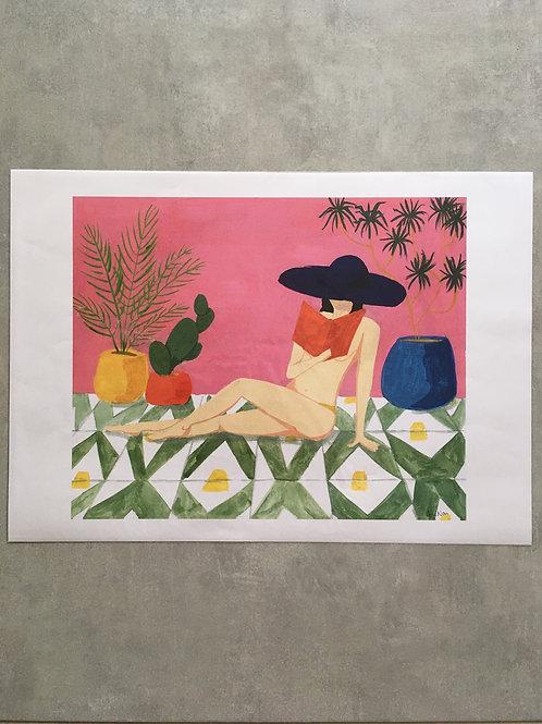 Verão em guache (na varanda com livro)_ Ana Novi
