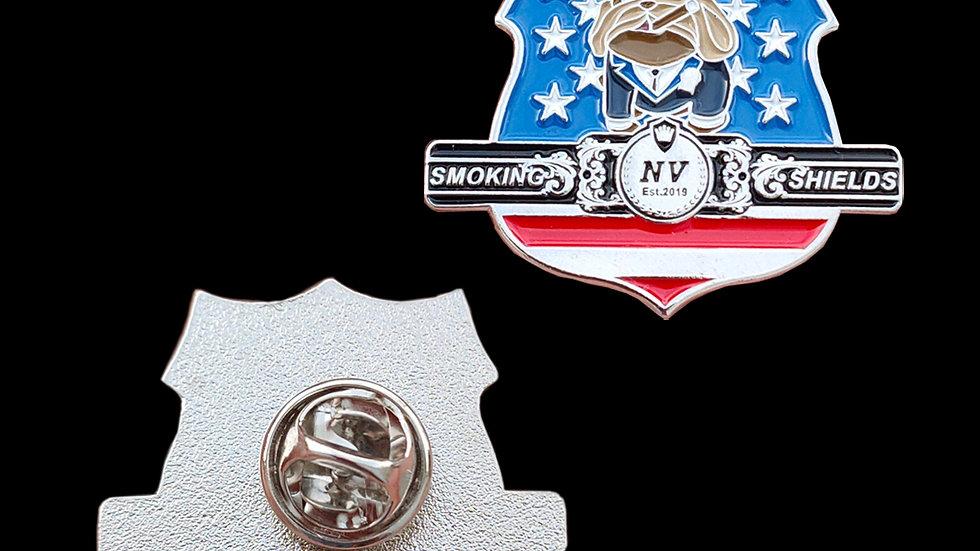 Smoking Shields NV Lapel pin