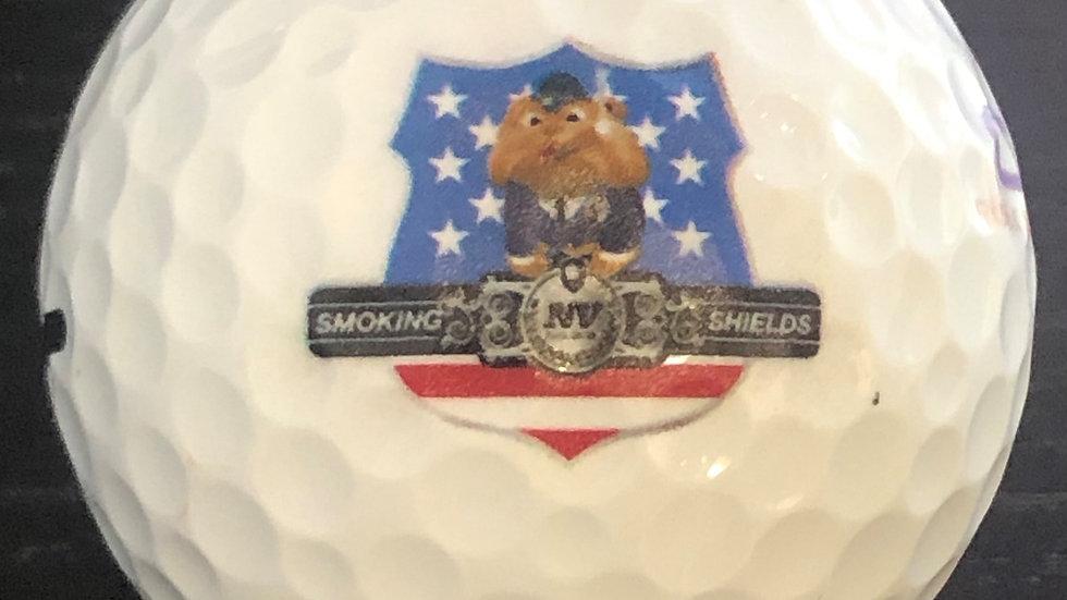Smoking Shields golf ball 3 pack