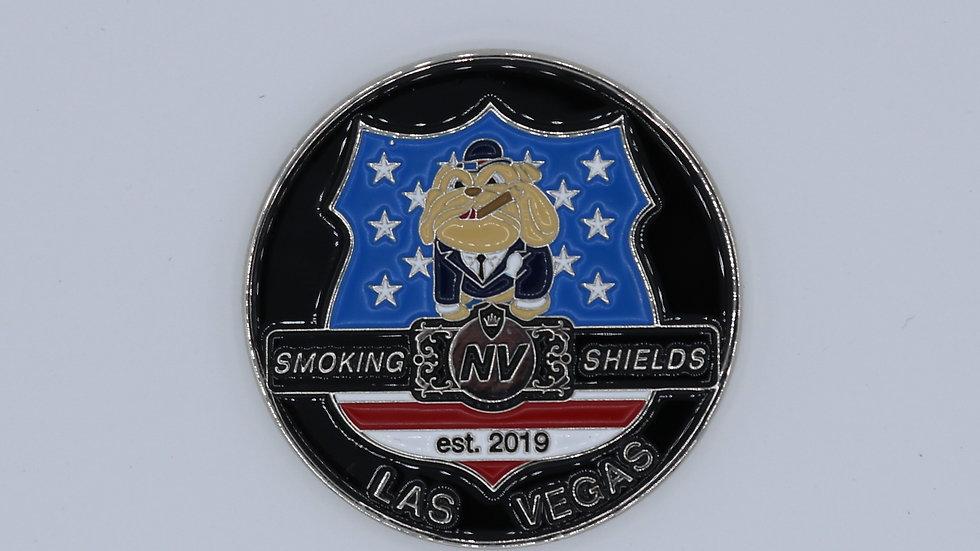 Smoking Shields Challenge Coin