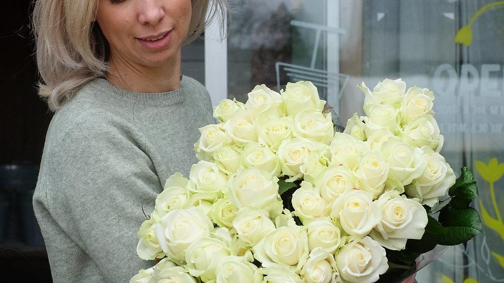 Witte rozen, bos van 10 rozen