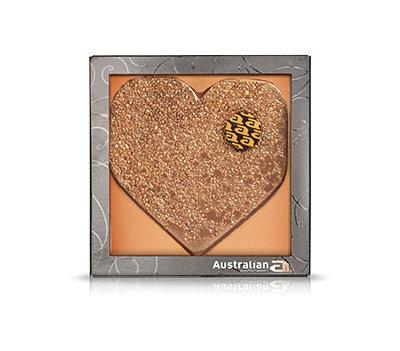 Chocolade hart melk - rose gold