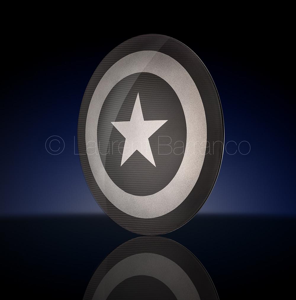 Bouclier Captain América en carbone