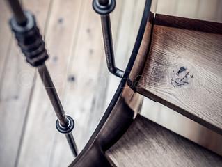 Prises de vue d'un superbe escalier dans un appartement du centre Toulousain...