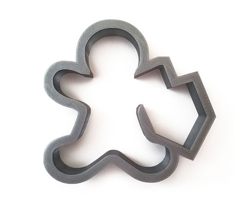 Gingerbread Person with Dreidel Cookie Cutter