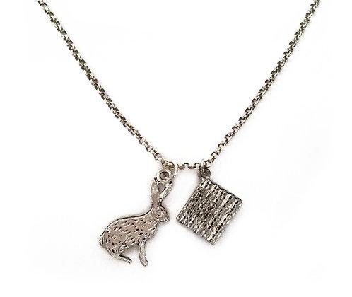 Easter Bunny & Matzo Necklace