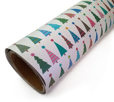 Christmas Trees & Jewish Stars Gift Wrap