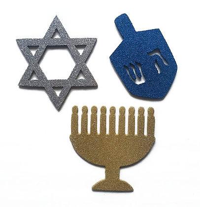 Set of 3 Hanukkah Ornaments