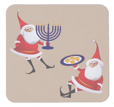 Jewish Santas Coasters