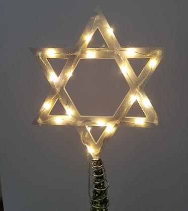 Light-up Star of David Tree Topper