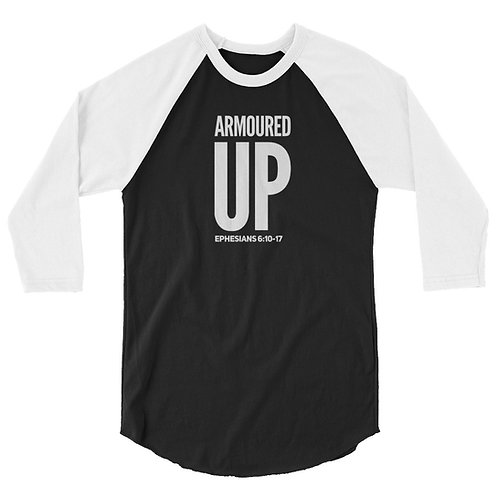 Armoured Up 3/4 sleeve raglan shirt