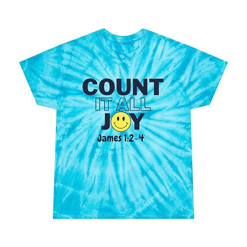 Count it all Joy Tie-Dye Tee, Cyclone