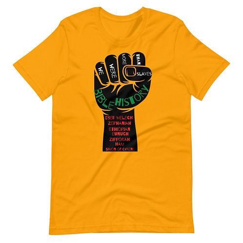 Black Bible History Short-Sleeve Unisex T-Shirt