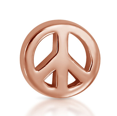 14k Rose Peace Sign