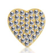 14k Yellow Diamond Heart