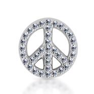 14k White Diamond Peace Sign